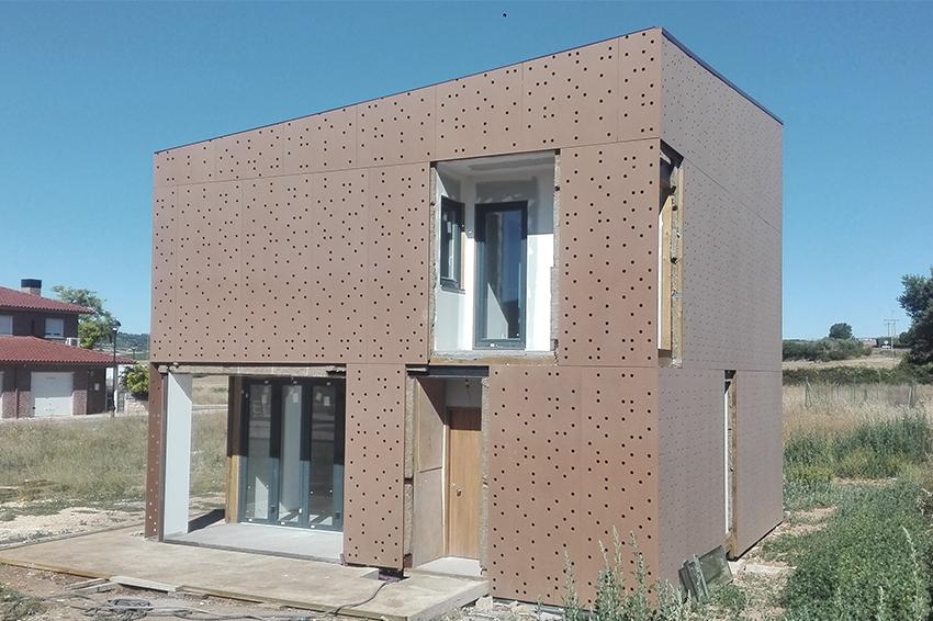Fachadas de edificios híbridos (estructura principal de madera ...